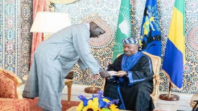 France-Afrique: Minister Ousmane Mey meets President Ali Bongo