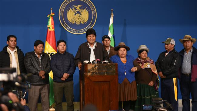Bolivian president Evo Morales announces resignation