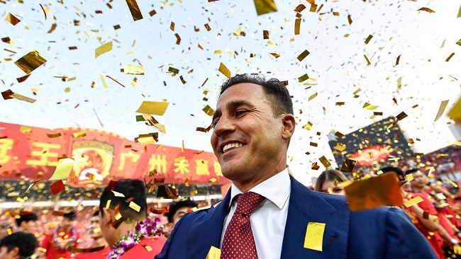 Football: Cannavaro expects to stay at Guangzhou after 'miracle' title