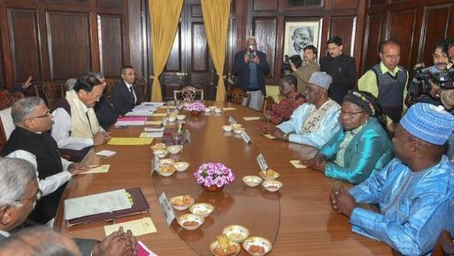 India: Vice President Naidu meets parliamentary delegation from Cameroon