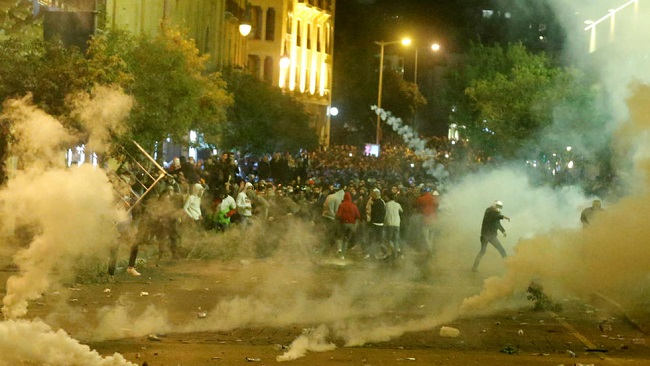 Lebanese army clashes with supporters of Hezbollah, Amal in Beirut