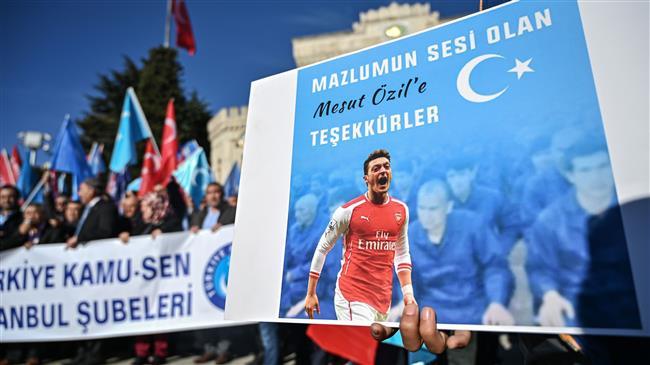 Football: Arsenal's Mesut Ozil has caused uproar in China after tweeting regarding the Uighur Muslims