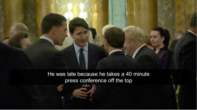 Trump calls Trudeau 'two-faced' at NATO summit as candid chat goes viral