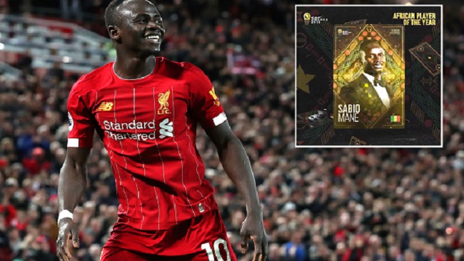 Football: Sadio Mane crowned African player of the year 2019