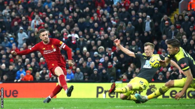 Football: Liverpool opens up the biggest lead by any team in English top-flight history