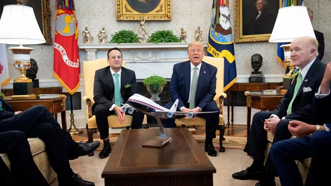 """Coronavirus Outbreak: US President and Irish Prime Minister had a """"strange"""" moment when it came to the traditional handshake"""