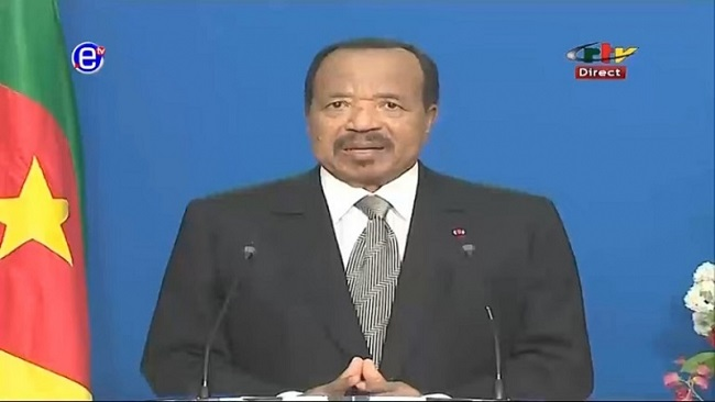 French Cameroun: Biya urges citizens to take part in COVID-19 battle