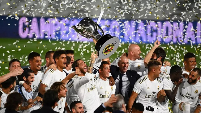 Football: Zidane's Real Madrid clinches victory in Spanish league