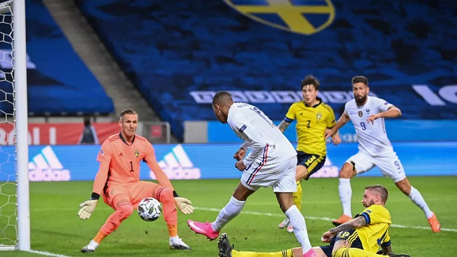 Football: Moment of Mbappe brilliance gives France victory in Sweden