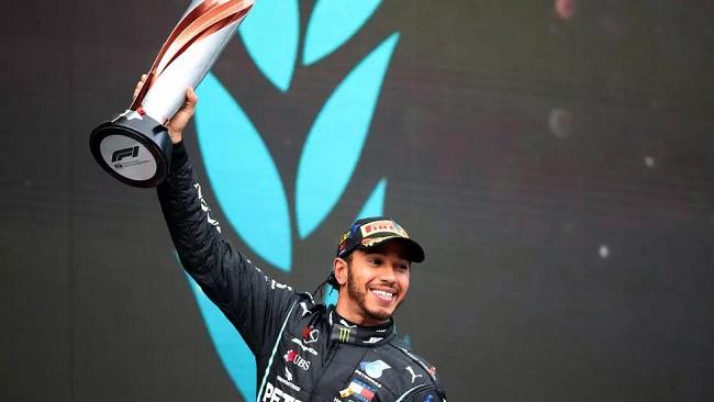 Lewis Hamilton wins seventh Formula One title, equalling Schumacher's record