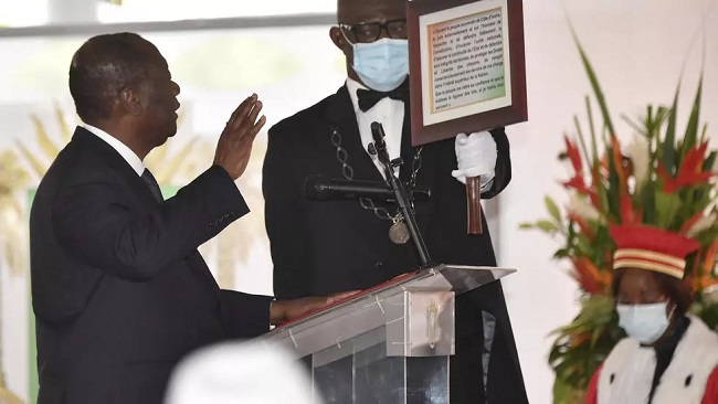 Ivory Coast's Ouattara sworn in for disputed third term