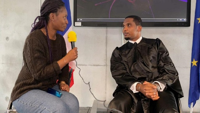 Eto'o receives doctorate honour from Lyon Business School, regrets French clubs not releasing players for AFCON