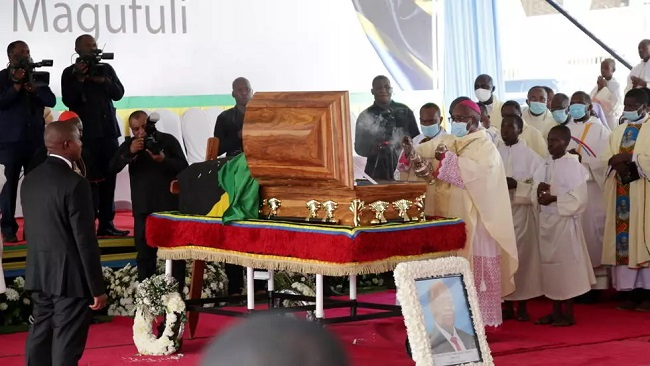 Tanzanians line up to pay their last respects to late president Magufuli
