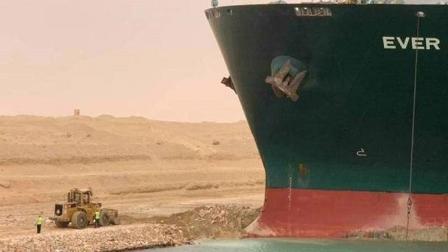 Suez blockage halting $9.6 billion a day of maritime traffic