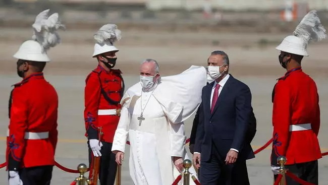 The Holy Father begins historic visit to war-ravaged Iraq as 'pilgrim of peace'