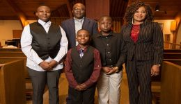 Cameroonian family of five receives sacraments of Baptism, first Communion, confirmation and convalidation of a marriage together