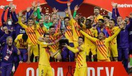 Messi scores twice as Barcelona crush Athletic Bilbao 4-0 in Copa del Rey final