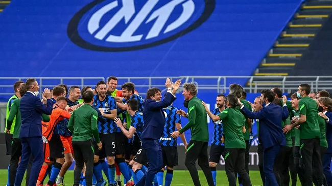 Italian Football: Five-goal Inter celebrate Serie A title with record 14th home win