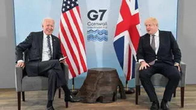 President Biden lands in UK with message for Prime Minister Johnson