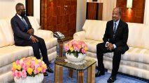 French Cameroun: Nigerian business tycoon Dangote meets Biya