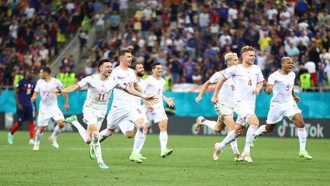 Switzerland knock world champions France out of Euro 2020