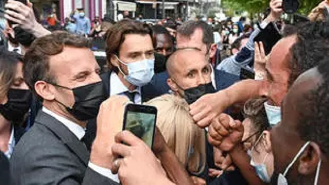 France: President Macron slapped during trip to south