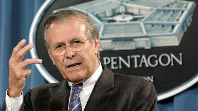 US: Donald Rumsfeld, defence secretary under George W Bush, dies at 88