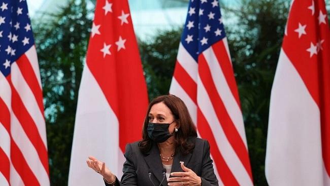 US Vice President Kamala Harris accuses China of using intimidation to back South China Sea claims